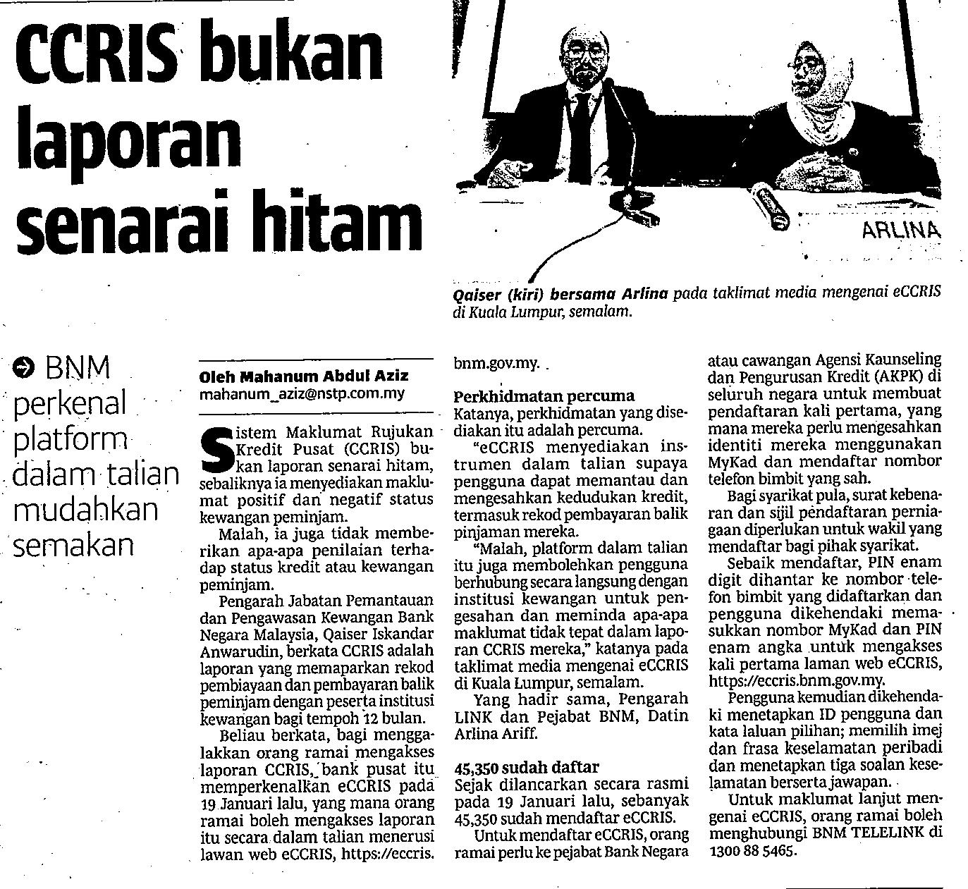 Perbadanan Perusahaan Kecil Dan Sederhana Malaysia Ccris Bukan Laporan Senarai Hitam